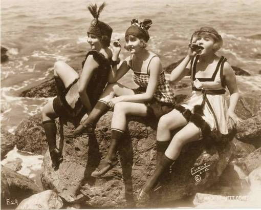 photo-for-arcade-card-mack-sennett-comedies-identified-as-virginia-warwick-and-harriwet-hammond-and-phyllis-haver-in-bathing-suits-on-rocks-1920s