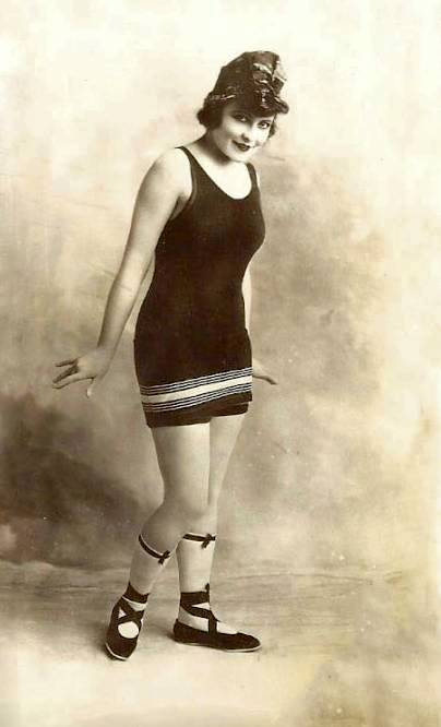 photo-for-arcade-card-movie-star-mary-thurman-in-wooly-bathing-suit-and-head-wrap-graceful-pose-1920s