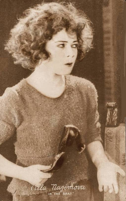 ARCADE CARD - MOVIE STAR - ALLA NAZIMOVA - IN THE BRAT - 1919