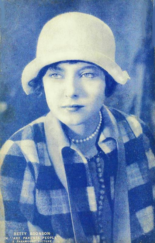 ARCADE CARD - PARAMOUNT PICTURES - MOVIE STAR - BETTY BRONSON - IN ARE PARENTS PEOPLE - 1925