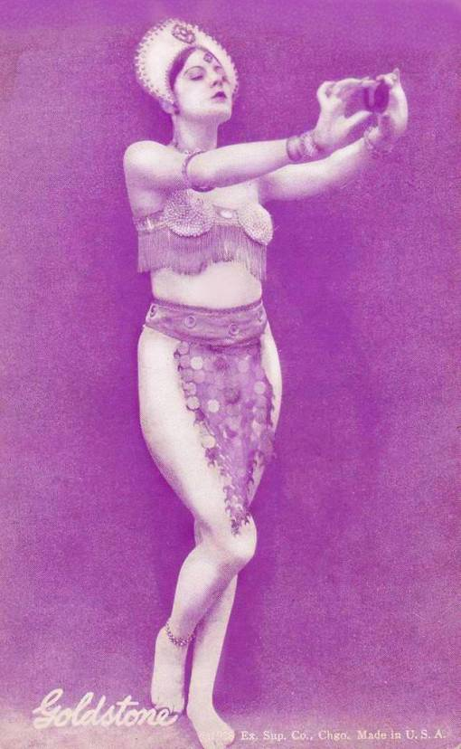 ARCADE CARD - EXHIBIT SUPPLY COMPANY - PIN-UP - GOLDSTONE - PART OF GEM SERIES - 1920s